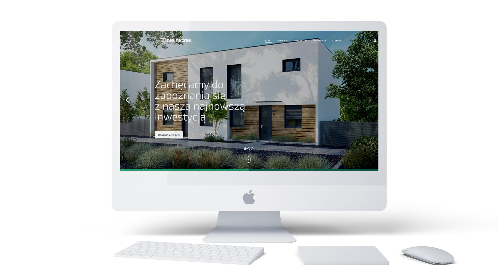Strona internetowa firmy deweloperskiej