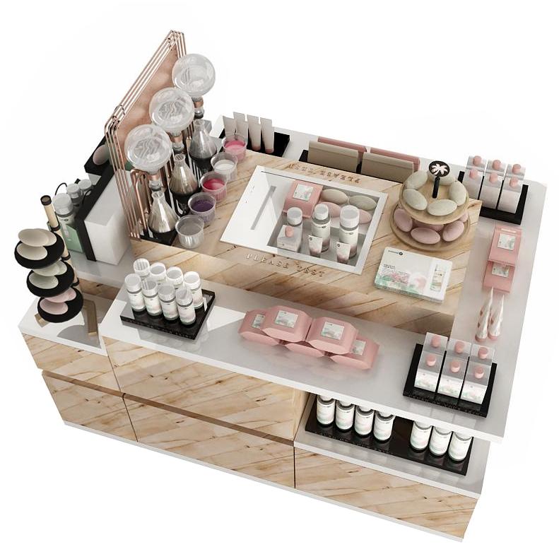projekt wyspy dla sklepu z kosmetykami