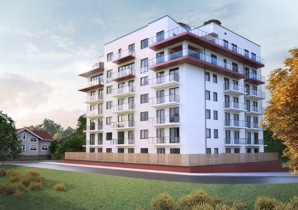 wizualizacja apartamentowca