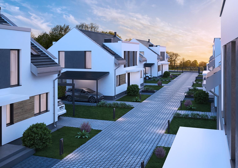 wizualizacja osiedla domów