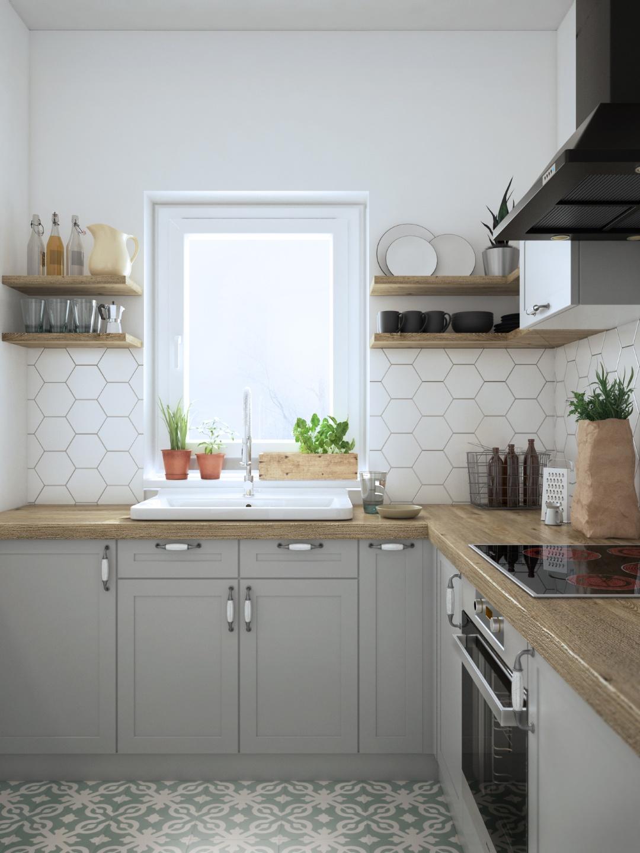 projekt prostej kuchni